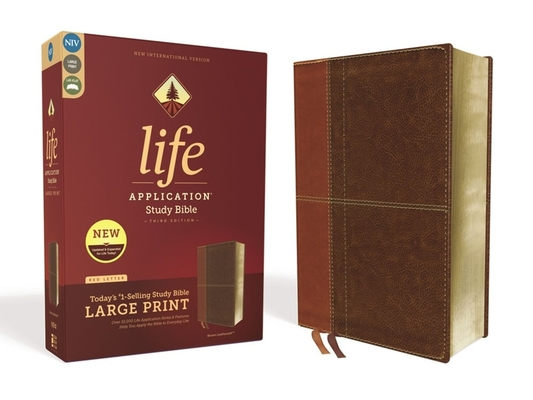 Image for NIV, Life Application Study Bible, Third Edition, Large Print, Leathersoft, Brown, Red Letter Edition