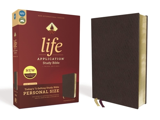 Image for NIV, Life Application Study Bible, Third Edition, Personal Size, Bonded Leather, Burgundy, Red Letter Edition