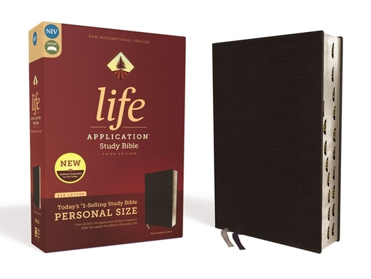 Image for NIV, Life Application Study Bible, Third Edition, Personal Size, Bonded Leather, Black, Red Letter Edition, Thumb Indexed