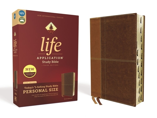 Image for NIV, Life Application Study Bible, Third Edition, Personal Size, Leathersoft, Brown, Red Letter Edition, Thumb Indexed