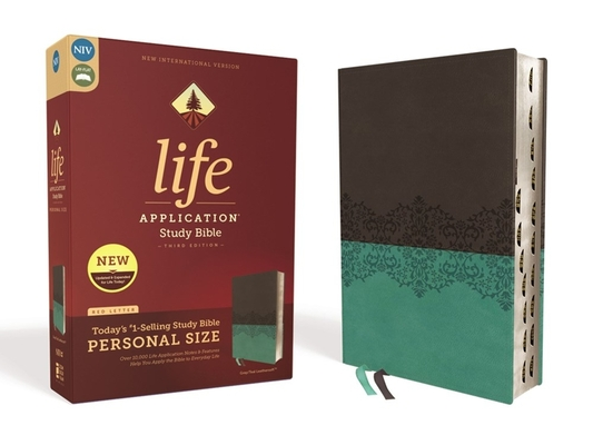 Image for NIV, Life Application Study Bible, Third Edition, Personal Size, Leathersoft, Gray/Teal, Red Letter Edition, Thumb Indexed