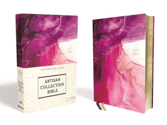 Image for NIV, Artisan Collection Bible, Cloth over Board, Pink, Art Gilded Edges, Red Letter Edition, Comfort Print