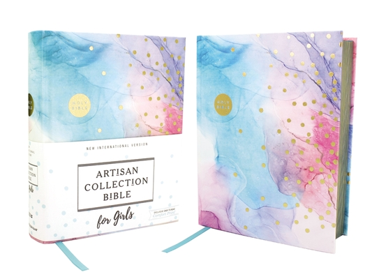 Image for NIV, Artisan Collection Bible for Girls, Cloth over Board, Multi-color, Art Gilded Edges, Red Letter Edition, Comfort Print