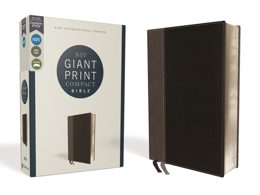 Image for NIV, Giant Print Compact Bible, Leathersoft, Black, Red Letter Edition, Comfort Print
