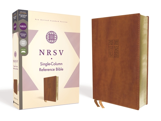 Image for NRSV, Single-Column Reference Bible, Leathersoft, Brown, Comfort Print