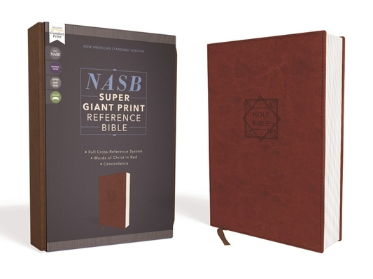 Image for NASB, Super Giant Print Reference Bible, Leathersoft, Brown, Red Letter Edition, 1995 Text, Comfort Print
