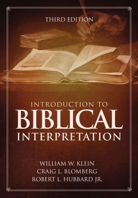 Image for Introduction to Biblical Interpretation: 3rd Edition