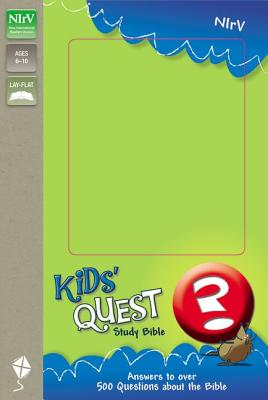 """Image for """"NIrV Kids' Quest Study Bible: Real Questions, Real Answers, Italian Duo-Tone, Light Blue/Hot Pink"""""""