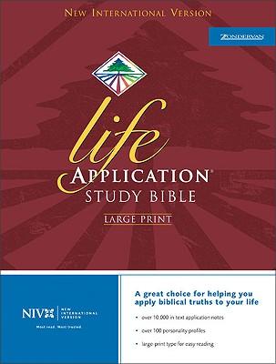 NIV Life Application Study Bible, Large Print, Bruce B. Barton