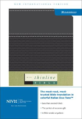 Image for NIV Thinline Bible (New International Version, Italian Duo-Tone Leather, Black)