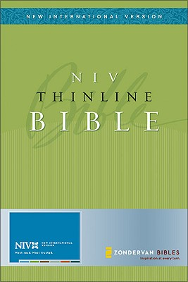 NIV Thinline Bible, Bonded Leather Black, Thumb-Indexed (New International Version), Zondervan (Author)