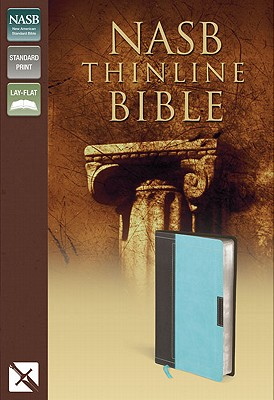 "Image for ""NASB, Thinline Bible, Imitation Leather, BrownBlue, Red Letter Edition"""