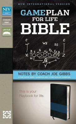 NIV, Game Plan for Life Bible, Imitation Leather, Black/Blue: Notes by Joe Gibbs