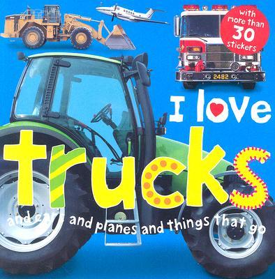 Image for I Love Trucks Sticker Book