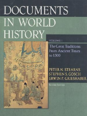 Image for Documents in World History, Volume I: From Ancient Times to 1500 (2nd Edition)