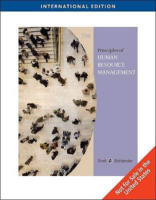 Principles of Human Resource Management 15th Edition, Scott Snell, George W. Bohlander