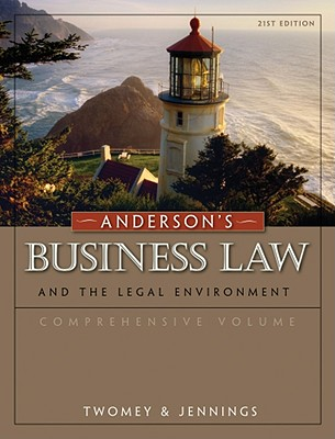 Image for Anderson's Business Law and the Legal Environment