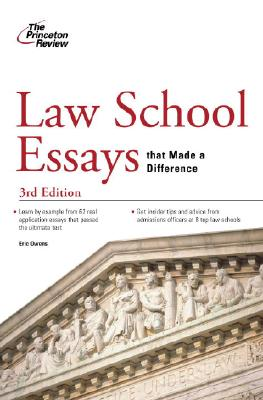 Law School Essays that Made a Difference, Eric Owens