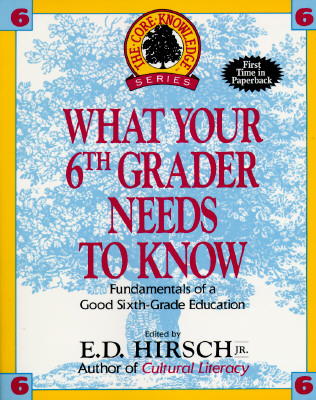Image for What Your Sixth Grader Needs to Know: Fundamentals of a Good Sixth-Grade Education (Core Knowledge Series : Resource Books for Grades One Through Six,)