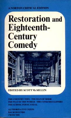 Image for Restoration and Eighteenth-Century Comedy (Norton Critical Edition)