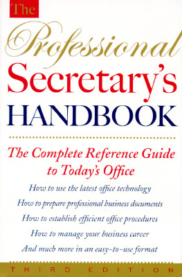 Image for The Professional Secretary's Handbook