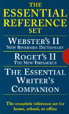 Houghton Mifflin Essential Desk Reference Set, Paperback, 3-Book Set (0618952373), American Heritage Dictionary