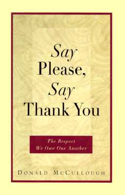 Image for Say Please, Say Thank You