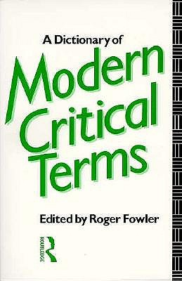 Image for Dictionary of Modern Critical Terms