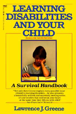 Image for Learning Disabilities and Your Child: A Survival Handbook
