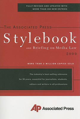 Image for The Associated Press Stylebook 2009 (Associated Press Stylebook & Briefing on Media Law)