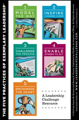 The Leadership Challenge Card, Side A: The Ten Commitments of Leadership, Side B: The Five Practices of Exemplary Leadership, Kouzes, James M.; Posner, Barry Z.
