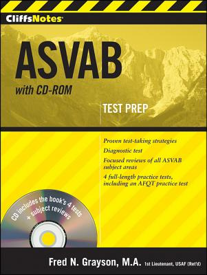 """CliffsNotes ASVAB with CD-ROM, """"Grayson, Fred N"""""""