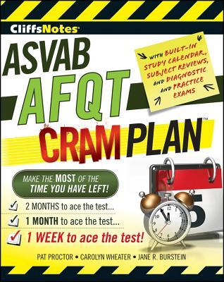 "CliffsNotes ASVAB AFQT Cram Plan (Cliffsnotes Cram Plan), ""Pat Proctor, Carolyn Wheater,"""