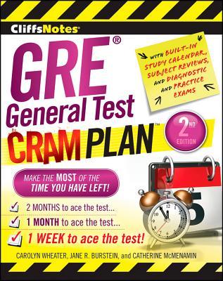 """CliffsNotes GRE General Test Cram Plan 2nd Edition (Cliffsnotes Cram Plan), """"Burstein, Jane R, McMenamin, C"""""""