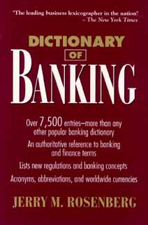 Image for Dictionary of Banking