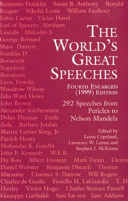 Image for The World's Great Speeches: Fourth Enlarged (1999) Edition