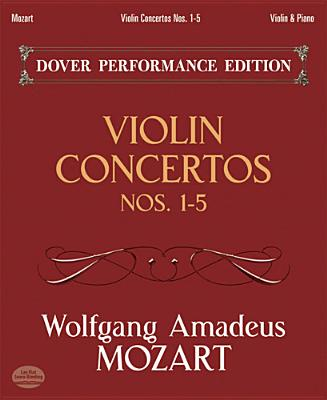 Violin Concertos Nos. 1-5: with Separate Violin Part (Dover Chamber Music Scores), Mozart, Wolfgang Amadeus; Music Scores