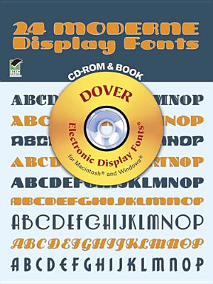 Image for 24 Moderne Display Fonts CD-ROM and Book (Dover Electronic Clip Art)