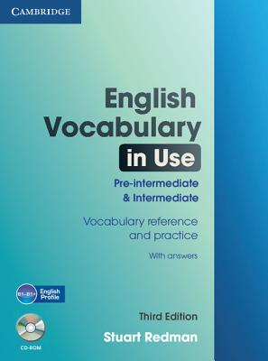 English Vocabulary in Use Pre-intermediate and Intermediate with Answers and CD-ROM, Redman, Stuart
