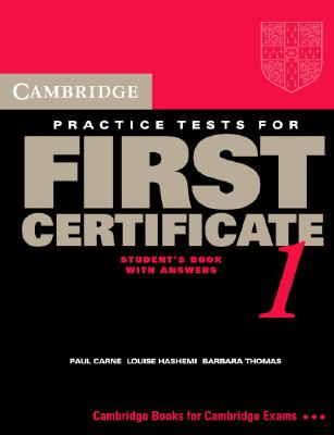 Image for Cambridge Practice Tests for First Certificate 1 Self-Study Student's Book