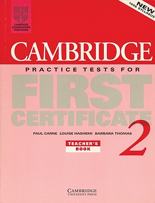 Image for Cambridge Practice Tests for First Certificate 2 Teacher's Book