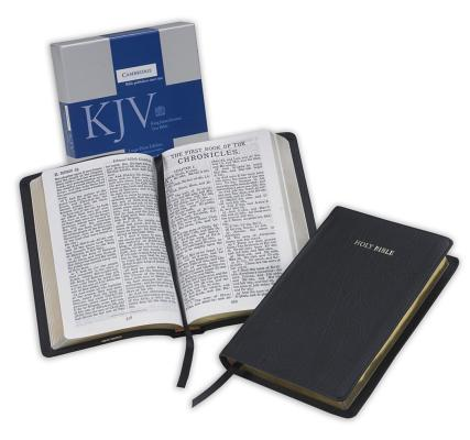 Image for King James Version Large Print Text Bible (Black French Morocco Leather)