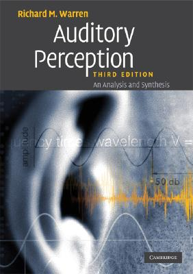 Image for Auditory Perception: An Analysis and Synthesis