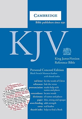 KJV Personal Concord Reference Edition KJ463:XRI black French Morocco leather, thumb indexed