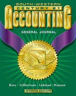 Image for Century 21 Accounting General Journal Approach: Student Textbook, Chapters 1-26