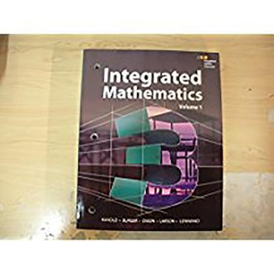 Image for HMH Integrated Math 3: Interactive Student Edition Volume 1 (consumable) 2015