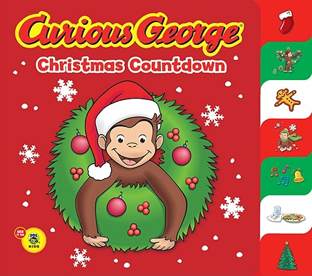 """Curious George Christmas Countdown Tabbed BB, """"Rey, H. A."""""""