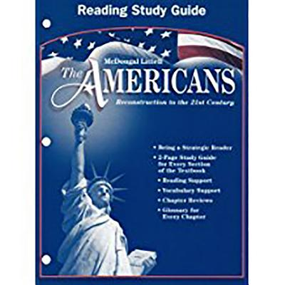 Image for The Americans: Reconstruction to the 21st Century (Reading Study Guide)
