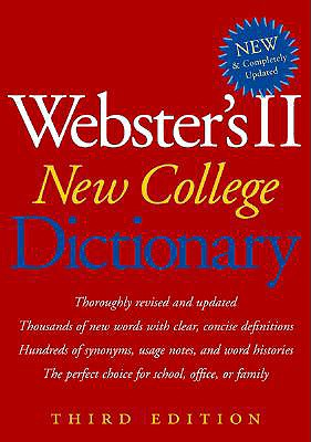 Image for Webster's II New College Dictionary (Third Edition)