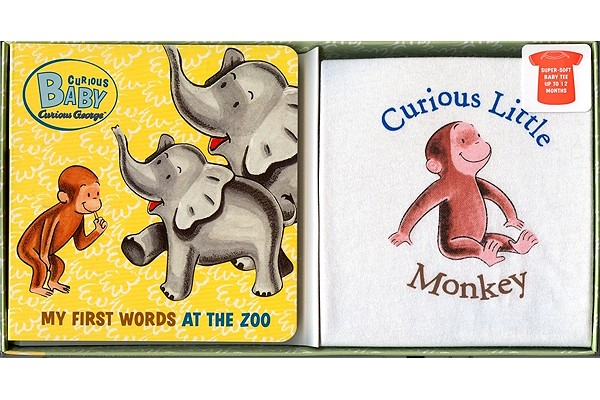 """Curious Baby My First Words at the Zoo Gift Set (Curious George Book & T-shirt) (Curious Baby Curious George), """"Rey, H. A."""""""